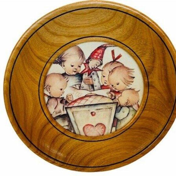 MI Hummel Plate Wooden West Germany W wood Goebel